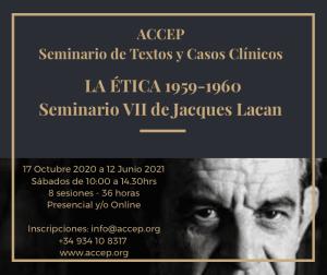 SEMINARIO DE TEXTOS Y CASOS CLÍNICOS 2020. JACQUES LACAN