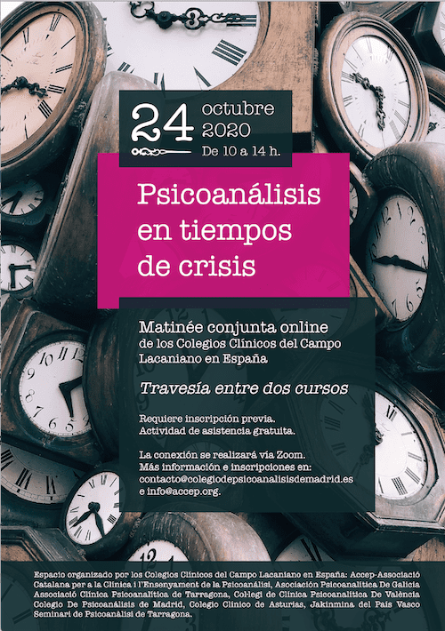 Conferencia online Psicoanálisis en tiempos de crisis
